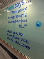 A & C? (stevenbrandist) Tags: uk silly sign airport birmingham zoom security hokeycokey bhx