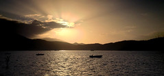 Yet another great sunset in Fethiye (VillaRhapsody) Tags: sunset sea water boats evening mediterranean fishingboats fethiye challengeyouwinner