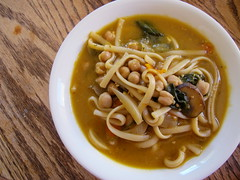 Chickpea Noodle Soup (tomatoes and friends) Tags: soup noodle chickpea veganomicon