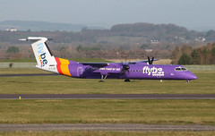 G-FLBE Spirit of Exeter (aitch tee) Tags: aircraft flybe cardiffairport dhc8 paintscheme gflbe namedaircraft spiritofexeter