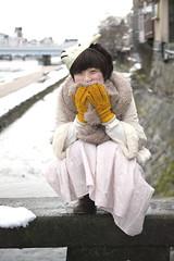 (tenpadego) Tags: winter portrait white snow girl japan kyoto sheep