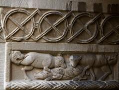 Predators (Nick in exsilio) Tags: sculpture switzerland monastery cloister zürich romanesque minster