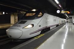 Spanish Renfe High speed train at Barcelona Sants Train station (Mikhail Zhidko) Tags: nikon nikkor  hiszpania  d5100