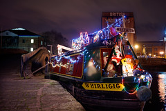 Whirligig (mattrkeyworth) Tags: christmas nottingham night zeiss weihnachten lights canal snowman nacht christmaslights nuit narrowboat canalboat nightset mattrkeyworth sonya7r sel35f28z ilce7r sonnartfe2835 whirilig