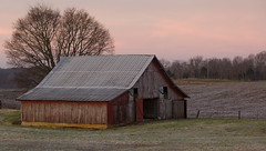 All's Quiet (Barry Freas) Tags: morning sky orange barn sunrise frost december kentucky