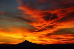 Mt Hood Mega Sunrise (ExpressionOfJoy) Tags: sky mountain clouds oregon sunrise washington mthood