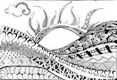 Sunshin (kennardandrea) Tags: blackandwhite fish seascape seaweed lines sunshine landscape sketch drawing curves curls doodle zen tangle zentangle zendoodle