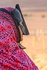 The Wahiba Bedouin Burqa (**El-Len**) Tags: woman vertical costume desert mask format sands ethnic oman burqa bedouin wahiba sultanate arabianpeninsula