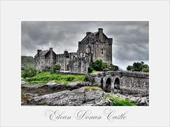 Eilean Donan Castle (hellwi) Tags: sky lake castle clouds see scotland highlands cloudy himmel wolken eilean donan burg schottland wolkig hellwi freizeitknipser