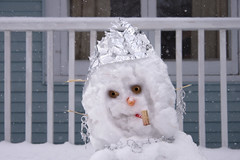 Snow Maiden (Russ Allison Loar) Tags: winter holiday storm cold ice up weather rural snowflakes snowman michigan snowstorm freezing isolation snowfall blizzard frigid coldweather climatechange smalltown snowplow winterstorm snowedin winterweather weatherreport calumet yooper winterlandscape snowwoman snowpack northernmichigan greatwhitenorth globalcooling snowyweather neighborhoodsnow houseinsnow uppermichiganpeninsula