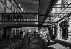 Station in Paris. (poupette1957) Tags: life voyage street city people urban black paris detail art monument monochrome station architecture canon french landscape photographie gare deco rue blanc ville graphisme grandangle parisblackandwhite atmosphre noiret