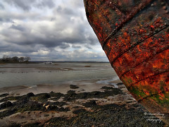 rusting hulk (David Tovey Photography) Tags: sea england sky abstract david texture water field landscape boat kent seaside rust ship riverside mud outdoor decay aged hull depth medway tovey eyecacha