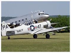 North American SNJ-5 Texan C/N 88-17955 (Aerofossile2012) Tags: aircraft harvard airshow dc3 dakota trainer avion texan c47 t6g snj 2014 northamerican cerny toratoratora ferté