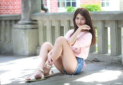 DP1U4154 (c0466art) Tags: blue school light portrait white hot nature girl female canon high nice asia slim pants jean skin outdoor quality gorgeous young figure charming pure  1dx c0466art