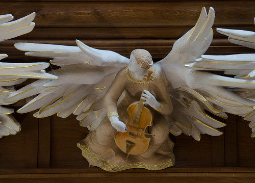 Bath Abbey - Detail from the Quire Angels
