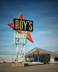 Obligatory Roy's Photo (Curt Bianchi) Tags: california sign cafe route66 neon motel roys amboy