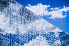 Reflections (Icedavis) Tags: us bank stadium minnesota vikings nfl national football league glass wall reflection clouds sky blue minneapolis mn downtown cmwd cmwdblue