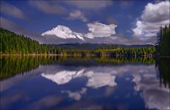 ..Mount Hood.. (Ravisankar RP) Tags: travel usa clouds oregon reflections spring nikon mthood trilliumlake d600 ravisankar tokina1735f4