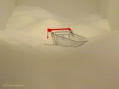 Minimalistic fantasies - sandburied shopping trolley (jackfre2) Tags: museum hall sand trolley antwerp minimalism processedimages balgium museumhall sandburiedshoppingtrolley