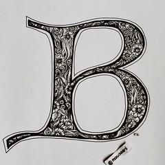 "Lombardic Letters ""B"" (marusaart) Tags: b art illustration sketch artist doodle ornament letter alphabet marusaart lomardic"