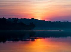 2016-05-27-pano-PotomacRiver_kayaker-2-2 (KewliePhotos) Tags: reflection fog sunrise bluesky shore potomacriver riverreflection
