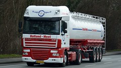 NL - Holland-Meel DAF XF 105 SSC (BonsaiTruck) Tags: holland truck silo lorry camion trucks 105 bulk lastwagen daf lorries lkw xf meel citerne lastzug silozug powdertank