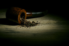 rule out (Ivan Pekić - www.ivanpekic.com) Tags: wood old vintage tobacco pipe smoke wooden closeup retro smoker product object nicotine brown taste health unhealthy toxic pleasure luxury smell narcotic background whiskey life hedonism