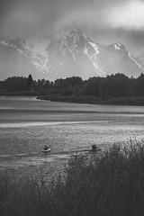 Oxbow bend (mandar245) Tags: grandteton grandtetonnationalpark nationalpark wyoming travel blackandwhite kayaking landscape