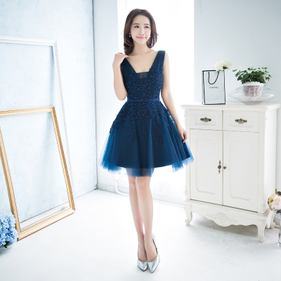 Evening gowns 2016 new spring dresses short new