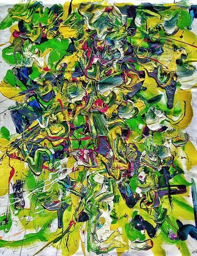 #josephallenart #june2016 #acryliconpaper 24x19 #abstractpainting