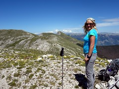 Edita on the summit of Monte Fragara (markhorrell) Tags: walking lazio apennines montiernici