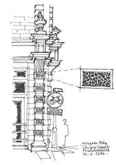 Huddersfield (jamesdyson) Tags: stone sketch yorkshire signpost huddersfield urns entablature pilasters 19c fountanpen crosland vermiculated kirkgatebuildings