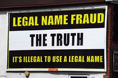 Hadleigh, Essex (Steven K. Hearn) Tags: posters billboards legalnamefraud hadleigh essex england