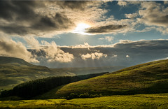 Beam Me Up - Pen Y Fan 2016 (scamart1st) Tags: brecon beacons wales hills cloudscape rays panasonic gx7 14140
