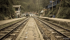 Curve round the corner (kshitiz.sharma81) Tags: old travel train vintage outdoor platform hills railwaystation rails himachal toytrain barog