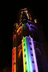 Wills Memorial Buiding Pride Bristol (c10lmw) Tags: light colour night bristol rainbow memorial pride wills buiding