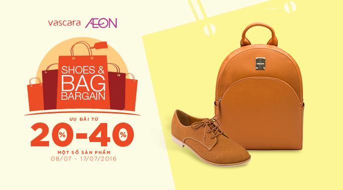 Vascara Aeon Bình Tân - Shoes & Bag Bargain - Ưu đãi từ 20-40% một số sản phẩm.
