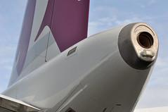 Airbus A319-133(LR) (A380spotter) Tags: auxiliarypowerunit apu exhaust tail tailfin verticalstabiliser rudder airbus a319 100lr 100 a7cja  alhilal qatar  qatarairways qtr qr  qatarexecutive qqe qe staticdisplay fia16 sbacfarnboroughinternationalairshow2016 taglondonfarnboroughairport eglf fab