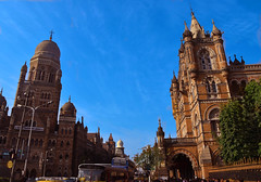 (Rick Elkins Trip Photos) Tags: mumbai maharashtra india chhatrapatishivajiterminus railway station victoriaterminus railroad train