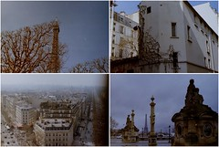 Paris (agaetisbyrjuns) Tags: city paris minolta fujifilm tour eiffel trees cold light blue sky