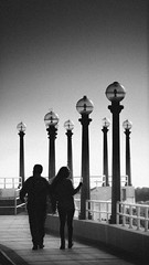 walk (TOMJAAM) Tags: lima peru walk street photography couple people peruvian love blackandwhite blancoynegro grayscale grain west coast pacific ocean girl guy urban calle club regatas