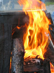 Fish Boil (Essay by SA) Tags: fire fishboil doorcounty themidwestscapecod ephraim logs wood burning