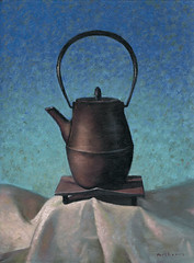 130620 (kevinmcsherryartist) Tags: pot tea teapot japonese oriental blue linen white dublin irl