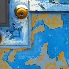 the door-mouse (msdonnalee) Tags: doorhardware door bluedoor dormouse thedormouse abstractreality doorknob blue fx blau azul bleu