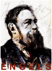 friedrich engels poster (tuliofagim) Tags: tuliofagim tutus illustration ilustrao artistagrafico graphicartist digitalbarroque barrocodigital forma composition lineart