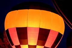 Glowing Bulb (djking) Tags: alberta canada heritageinninternationalballoonfestival highriver hotairballoons night