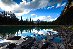 Afternoon Reflection (jfusion61) Tags: canada canadian rockies britsh columbia yoho national park lake ohara reflection fall clouds water rocks nikon d810 lee graduated filter landscape afternoon wiwaxy peaks 1424mm f28