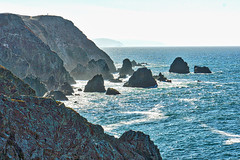 Master of his Domain - Bodega Head (BlueVoter - thanks for 1.5M views) Tags: lonepeople cliff rocks waves ocean pacific bodegahead bodegabay