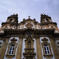 The famous baroque church if Sanctuary of Nossa Senhora dos Remdios (Bn) Tags: santurio de nossa senhora dos remdios santuriodenossasenhoradosremdios parque santo estevo parquedesantoestevo sanctuary tiles fountains staircase lamego portugal baroque atop church chapels statues granite park festivity altar viewpoint city monumental renaissance hill pilgrim famous stairs 686 steps 18th century plaster vvictory vsign portrait decorated kathedraal climbing miracles ornaments holiday vacation rainy day anno 1761 facade