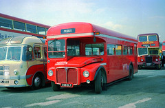 Sawn-Off Routemaster 368CLT (The original SimonB) Tags: film buses 2000 transport scanned april cobham brooklands